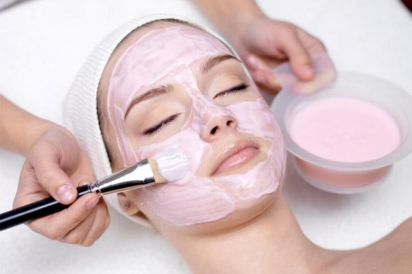 face mask at a spa