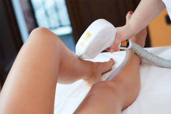 skin treatment on legs